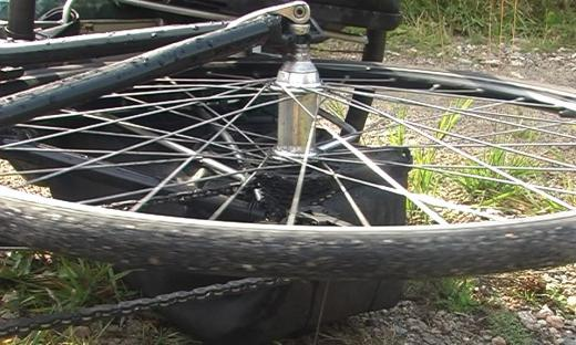 the back wheel that took me across Canada, 6600km